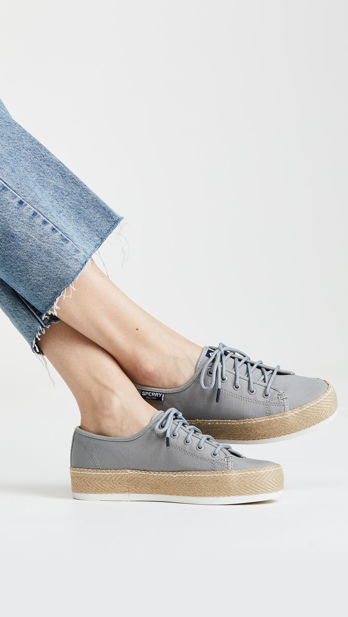 14566e6497f9 Sperry Sky Sail Jute Wrap Platform Sneakers