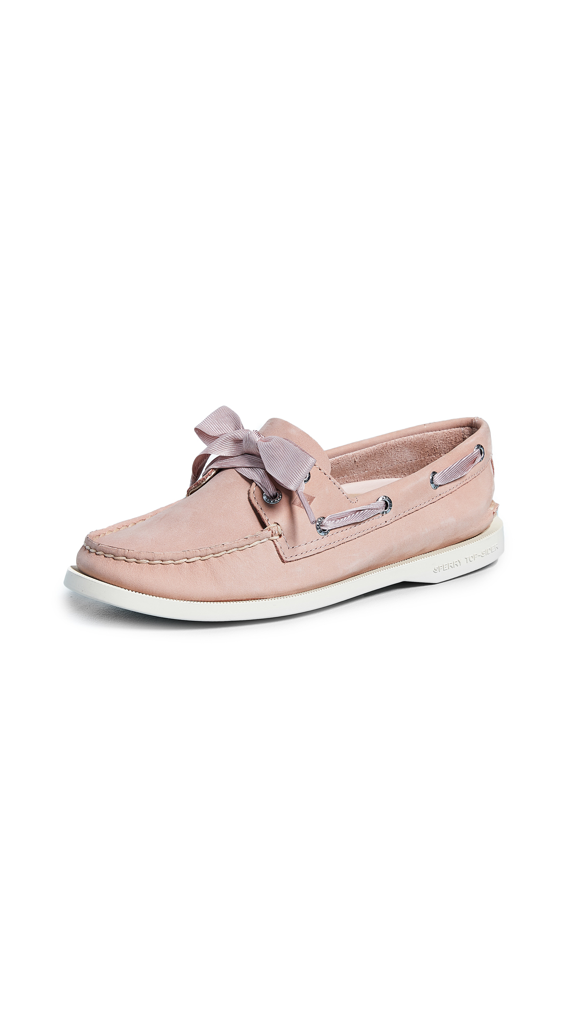 Sperry Satin Lace Boat Shoes - Rose Dust
