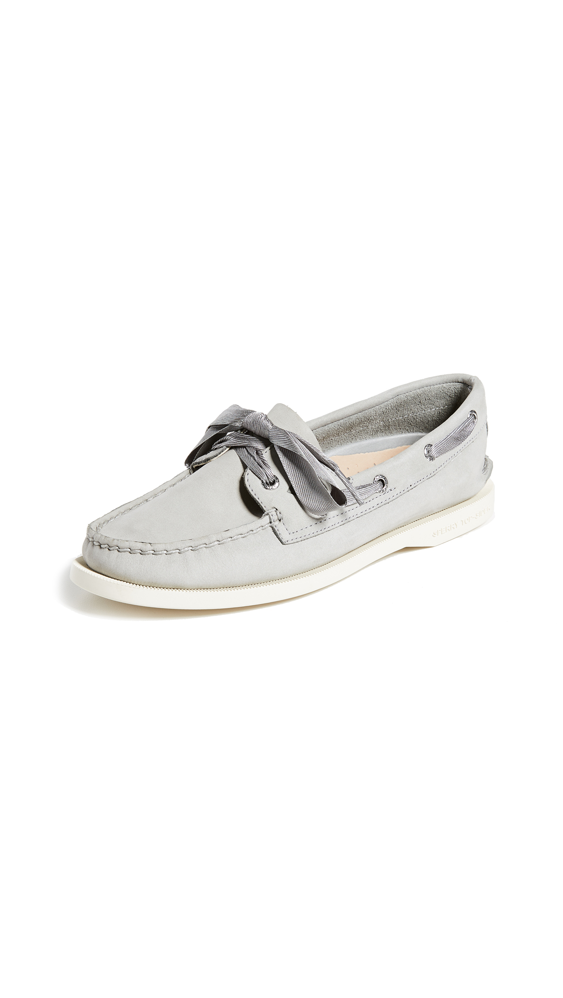 Sperry A/O Satin Lace Boat Shoes - Grey