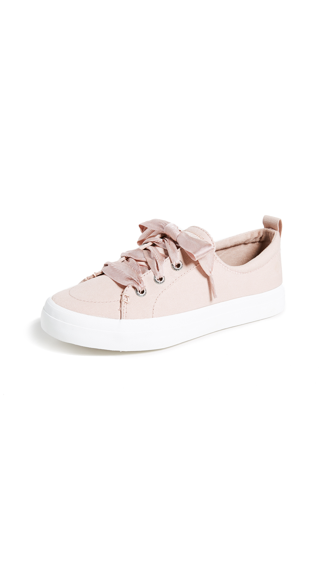 Sperry Crest Vibe Satin Lace Sneakers - Rose Dust