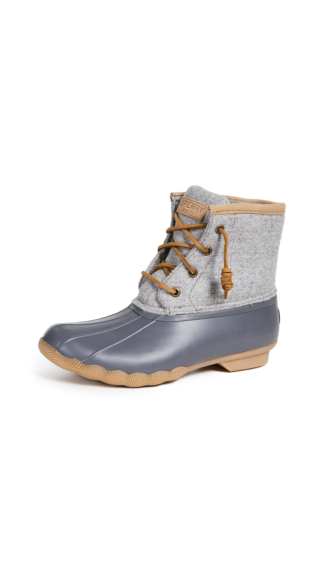 Sperry Saltwater Embos Wool Boots - Dark Grey