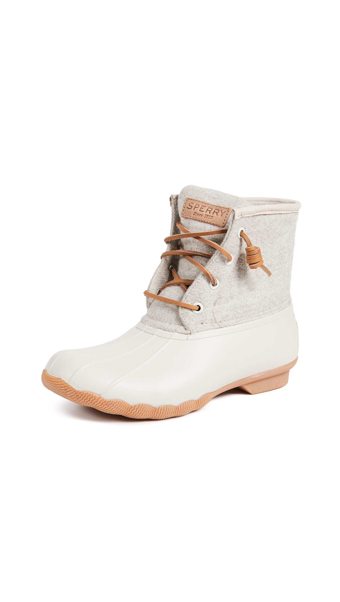 Sperry Saltwater Embos Wool Boots - Off White