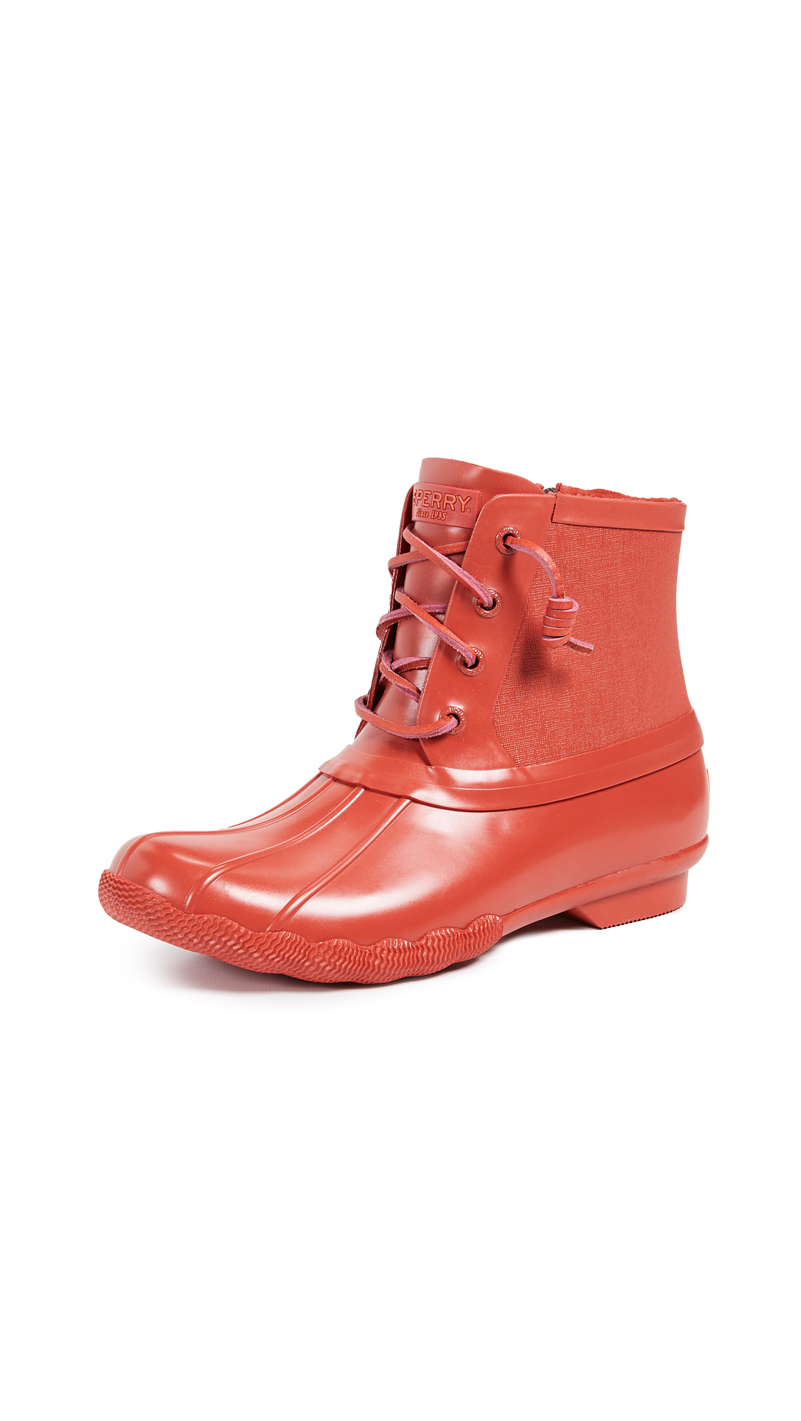 Sperry Saltwater Rubber Flooded Boots - Red