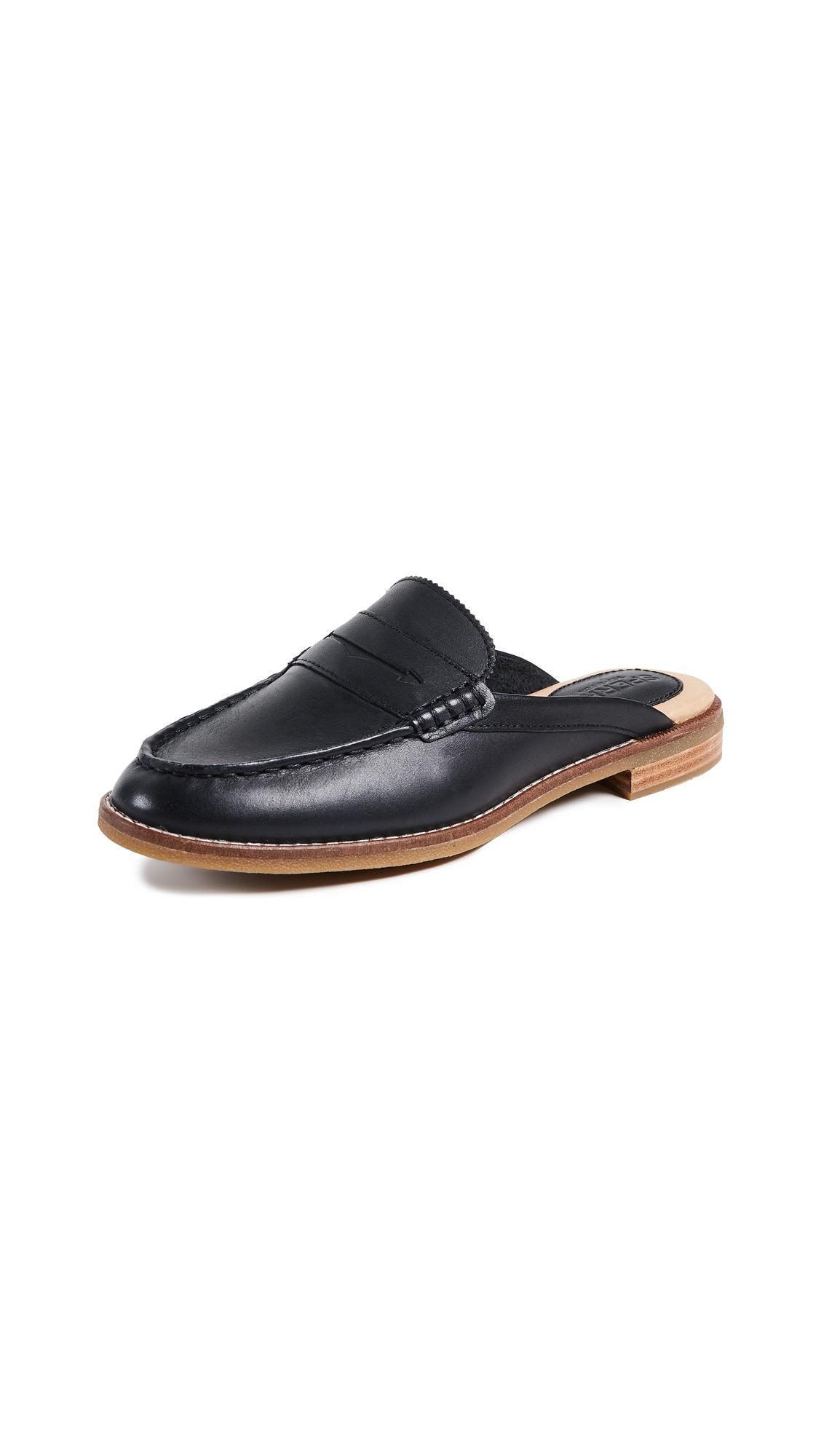 Sperry Seaport Fina Mules - Black