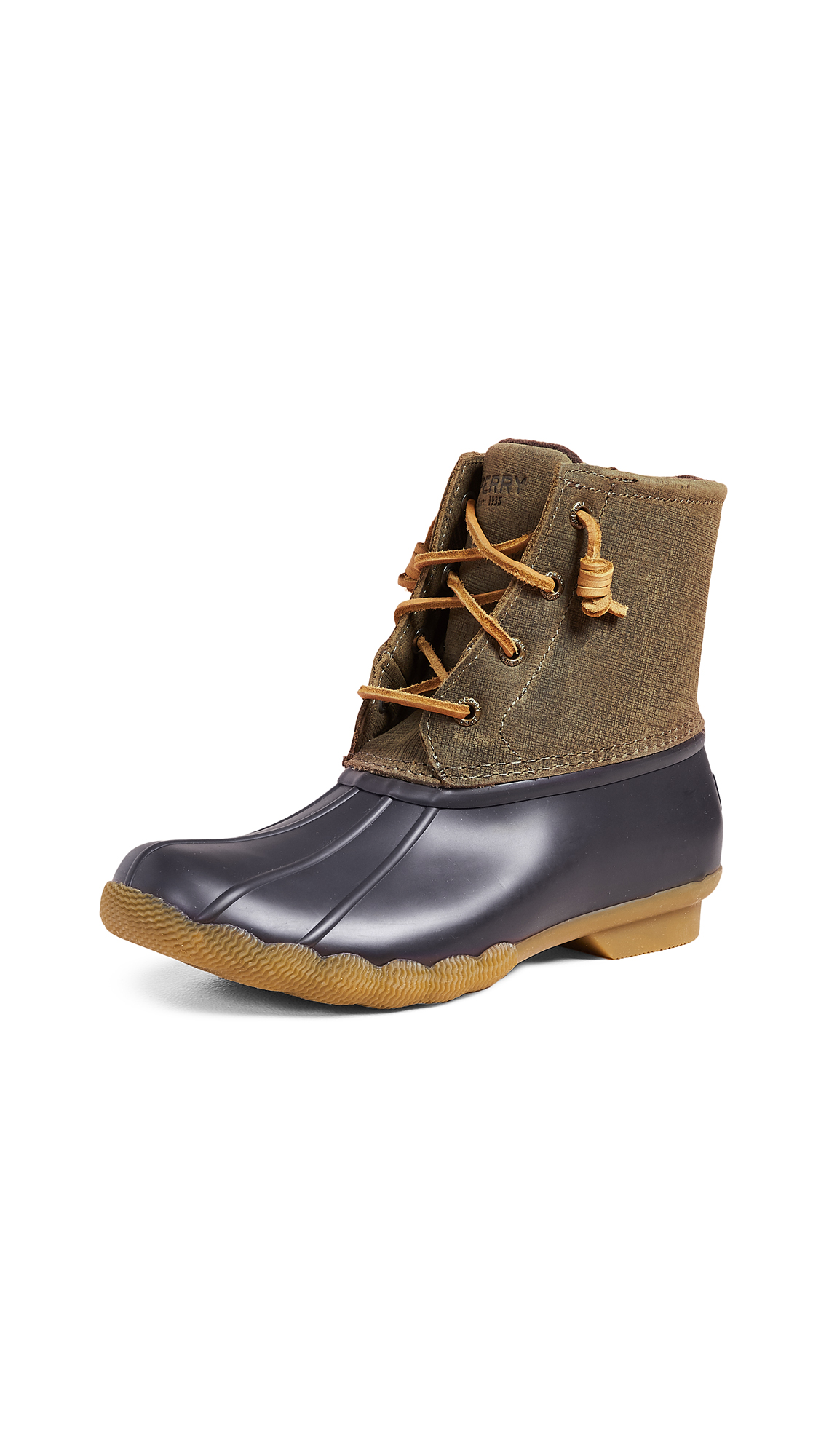 Sperry Saltwater Boots - Olive/Brown