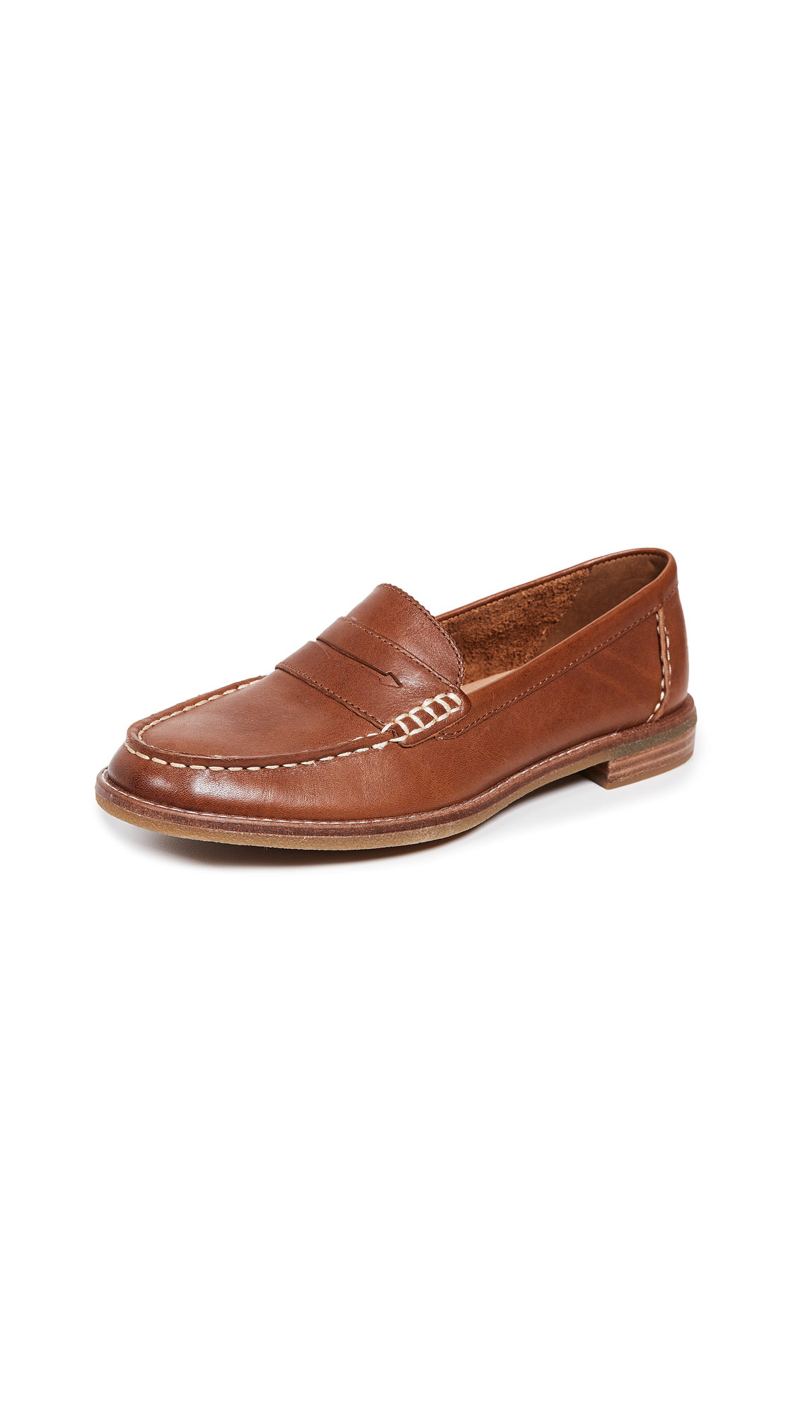 Sperry Seaport Penny Loafers - Tan