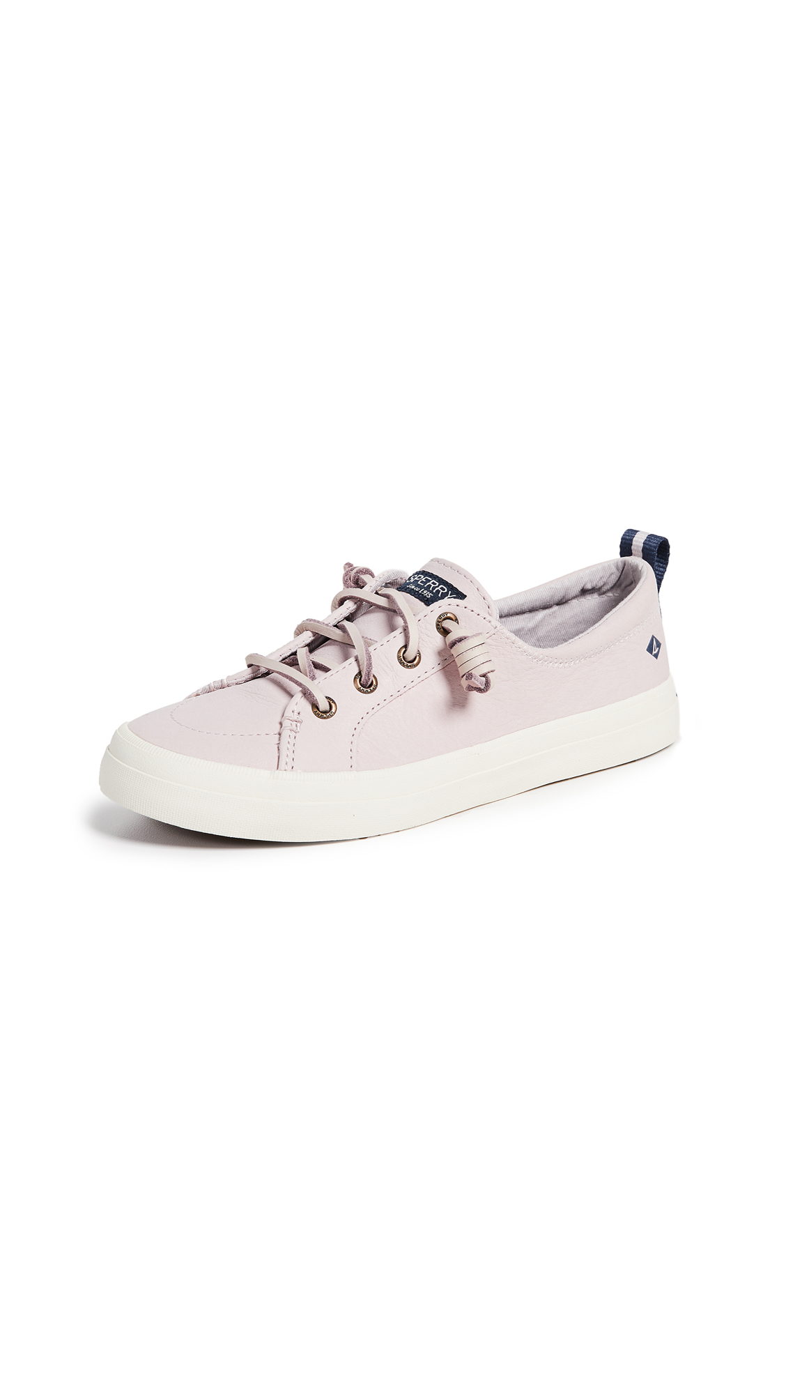 Sperry Crest Vibe Washable Leather Sneakers - Rose Dust