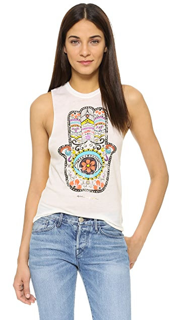 Spiritual Gangster Hamsa Day of the Dead Coachella Tank
