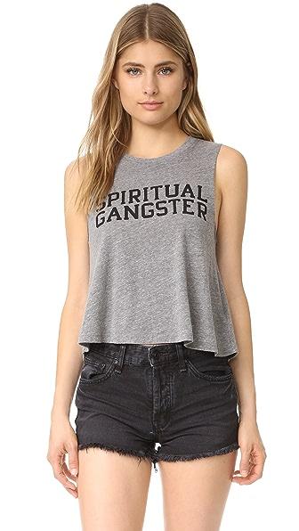 Spiritual Gangster SG Varsity Crop Tank