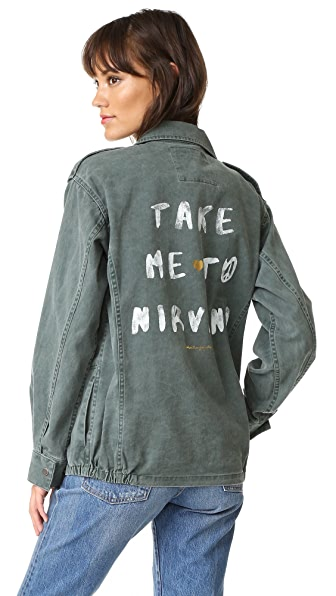 Spiritual Gangster Take Me To Nirvana Army Jacket