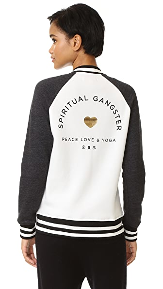 Spiritual Gangster SG Varsity Sweatshirt - Stardust/Vintage Black