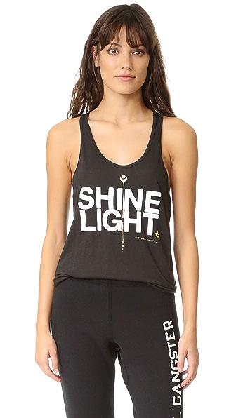 Spiritual Gangster Shine Light Arrow Racerback Tank