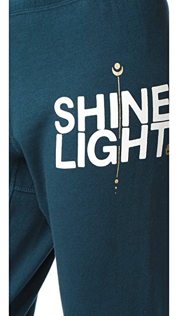 Spiritual Gangster Shine Light Arrow Dharma Sweatpants