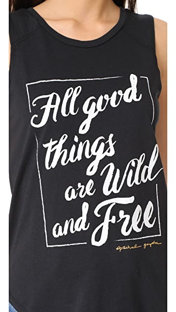 Spiritual Gangster Wild and Free Muscle Tank