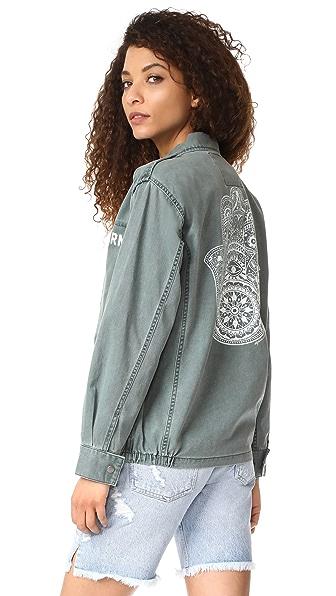 Spiritual Gangster Henna Hamsa Army Jacket