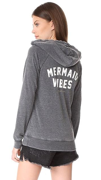 Spiritual Gangster Mermaid Vibes Dharma Zip Hoodie