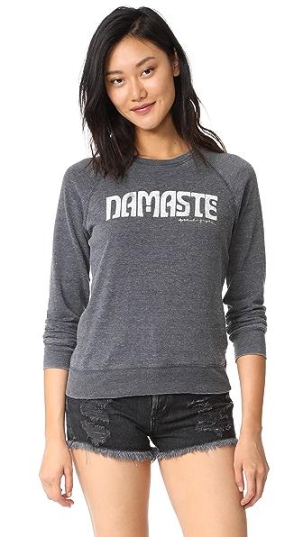 Spiritual Gangster Namaste Summer Boyfriend Sweatshirt In Vintage Black