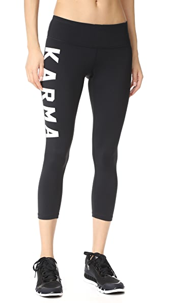 Spiritual Gangster Karma Power Crop Leggings
