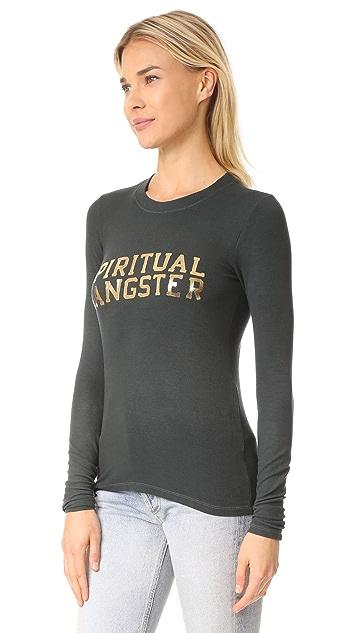 Spiritual Gangster SG Varsity Long Sleeve Tee