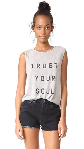 Spiritual Gangster Trust Your Soul Chakra Tank In Heather Grey