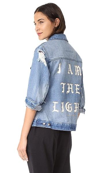 Spiritual Gangster I Am the Light Denim Jacket In Denim