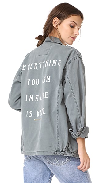 Spiritual Gangster Everything Is Real Army Jacket