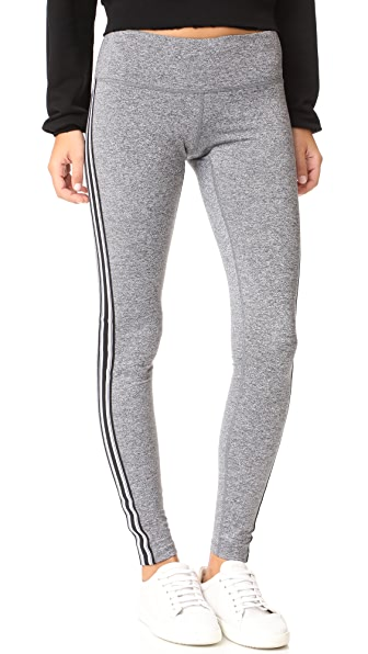 Spiritual Gangster Athletic Stripe Practice Leggings - Heather Grey