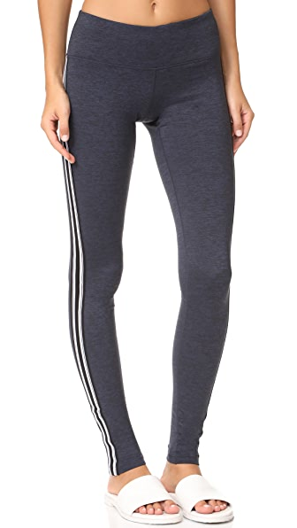 Spiritual Gangster Athletic Stripe Practice Leggings - Navy