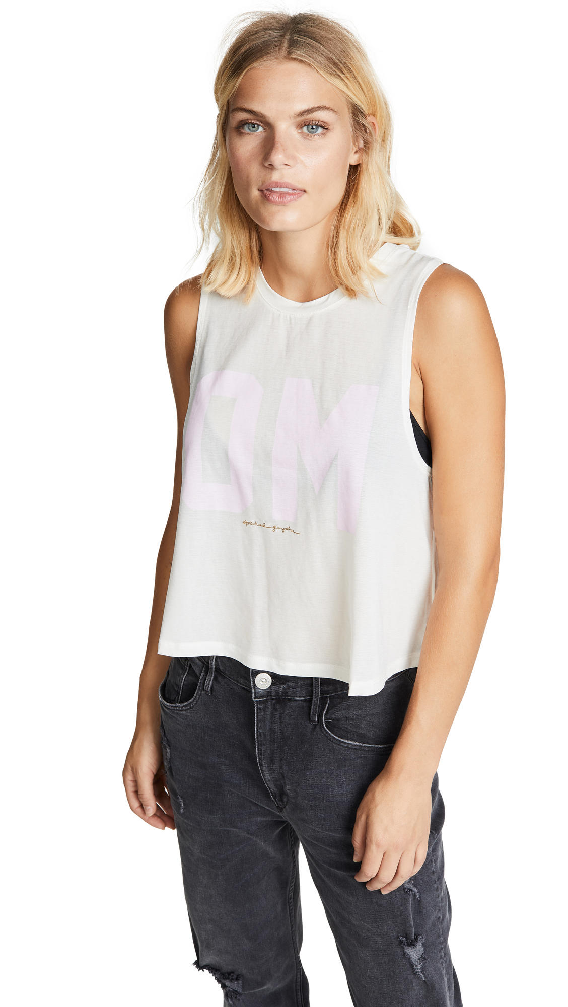 Spiritual Gangster Om Active Crop Tank In Stone