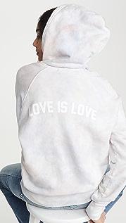Spiritual Gangster Классическая толстовка Love Is с капюшоном и рукавами реглан