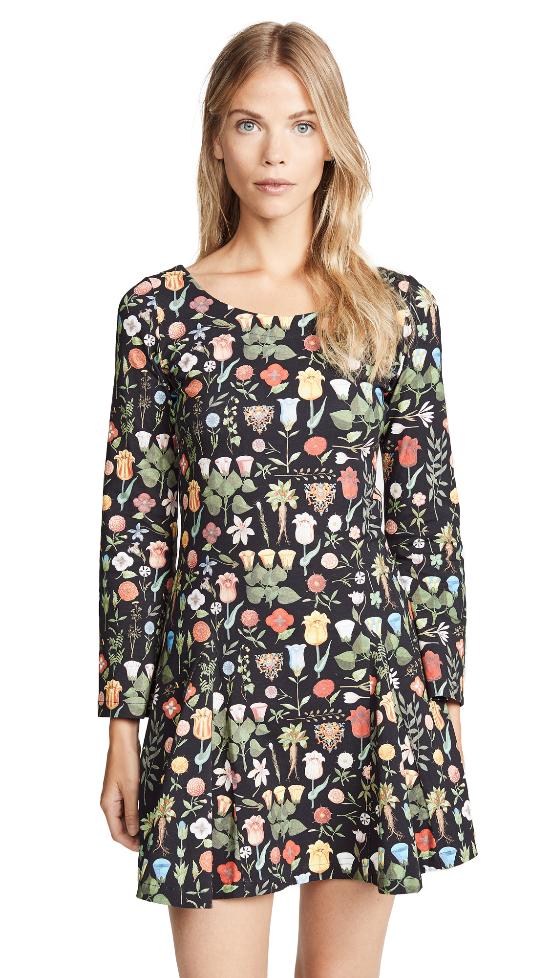 SAMANTHA PLEET Fleur Dress in Black Blossom