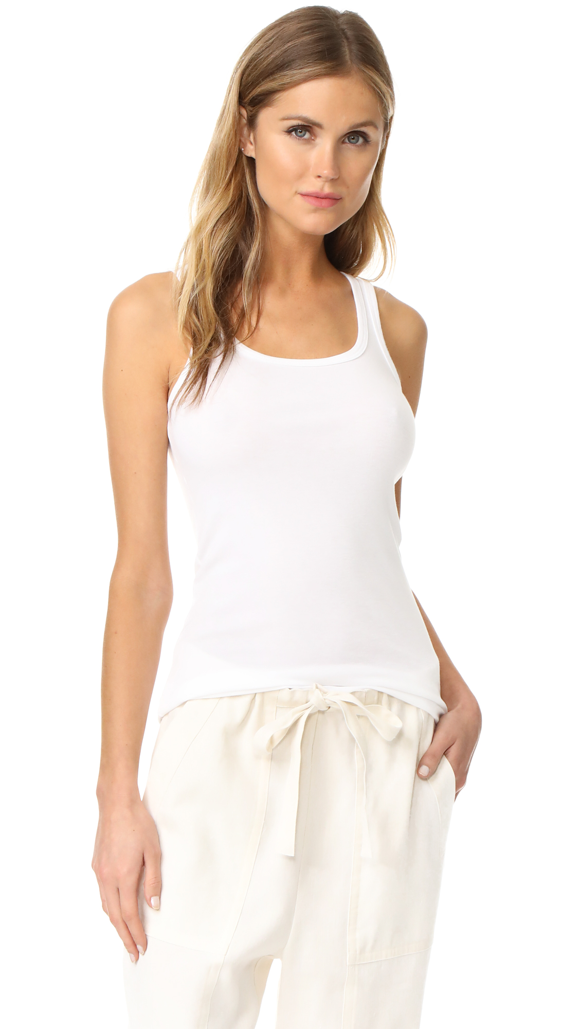 Splendid 1x1 Tank Top - White