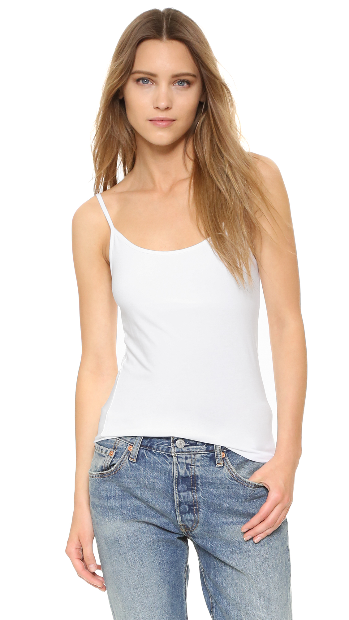 Splendid Cami Tank with Bra - White