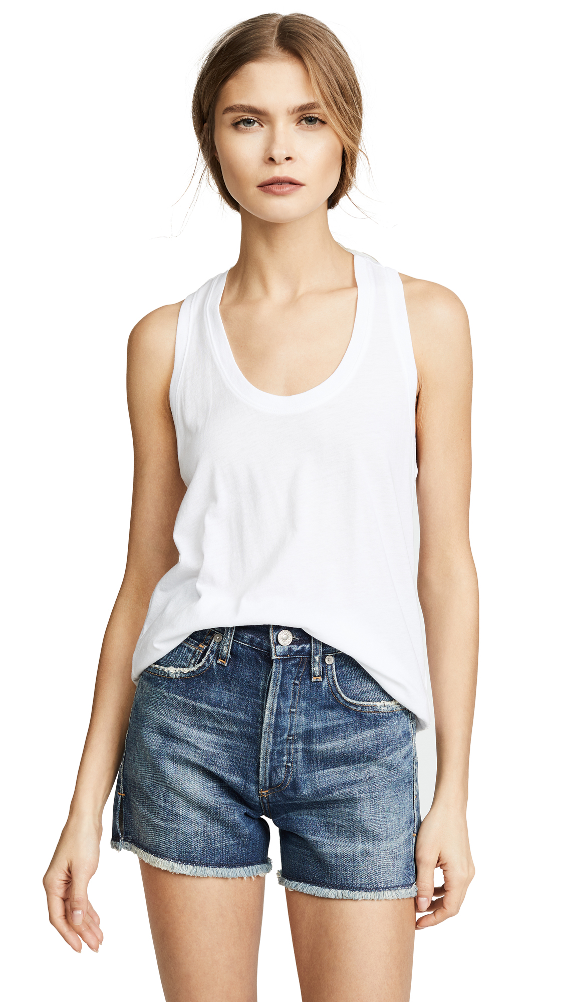 Splendid Very Light Jersey Tank - White