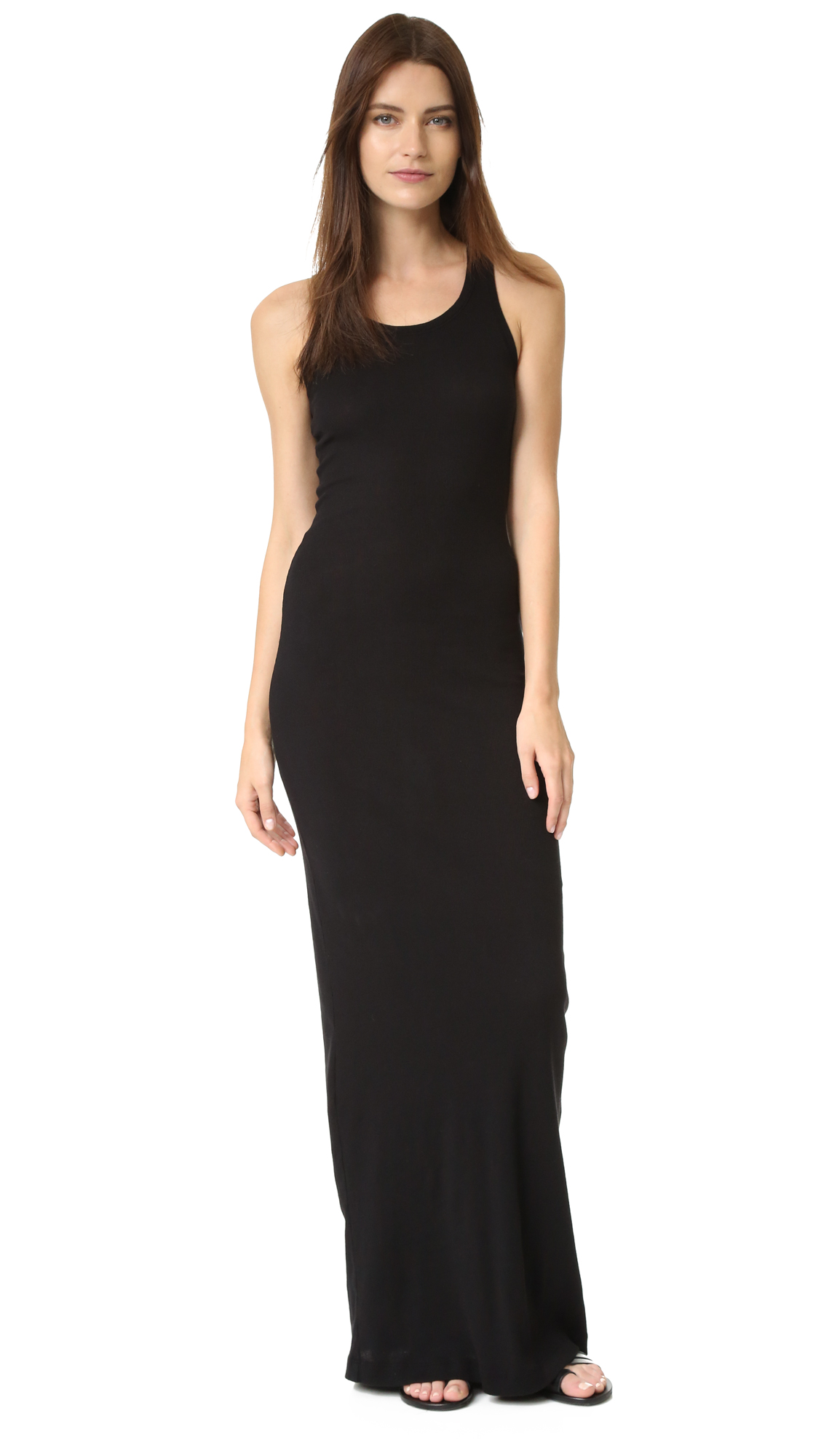 Splendid Ribbed Maxi Dress - Black