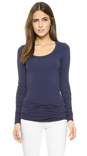 Splendid Layers Long Sleeve Tee - Navy