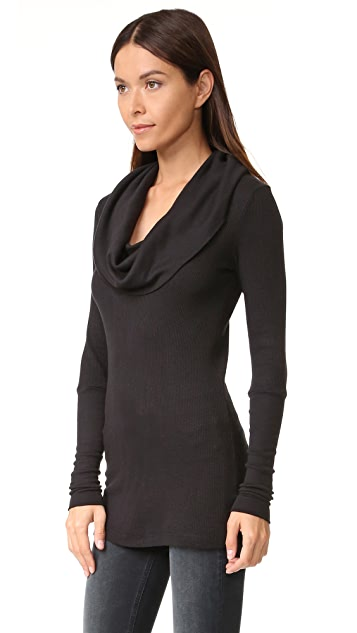 Splendid Thermal Long Sleeve Cowl Neck