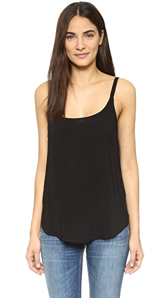 Splendid Woven Voile Camisole In Black