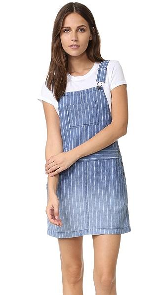 Splendid Oroya Indigo Railroad Dress - Medium Wash Ombre