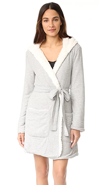 Splendid Cozy Hoody Robe - Heather Grey