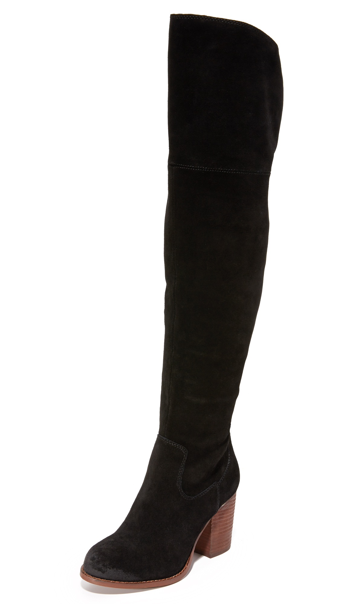 splendid female splendid loretta over the knee boots black