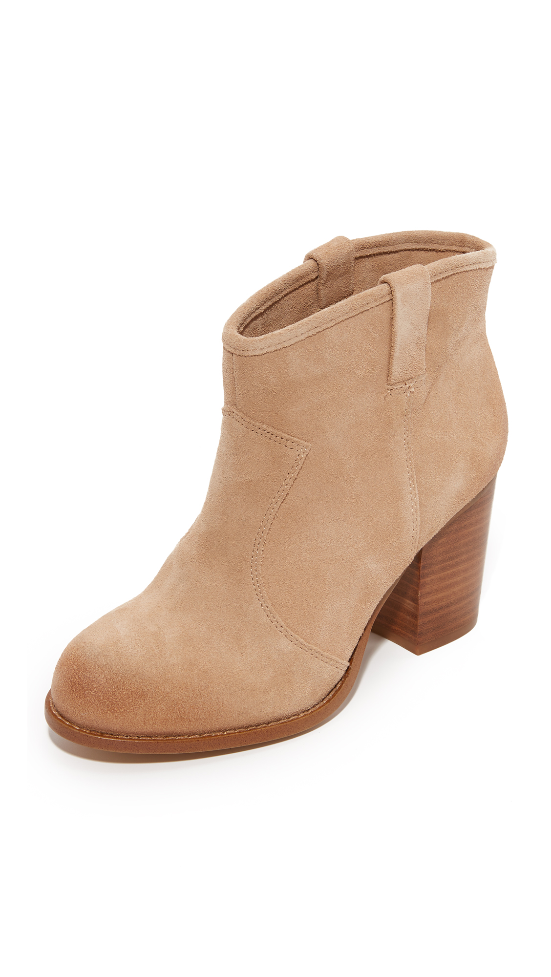 Splendid Suede Booties - Nut