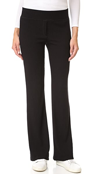 Splendid Sylvie Rib Pull On Pants - Black