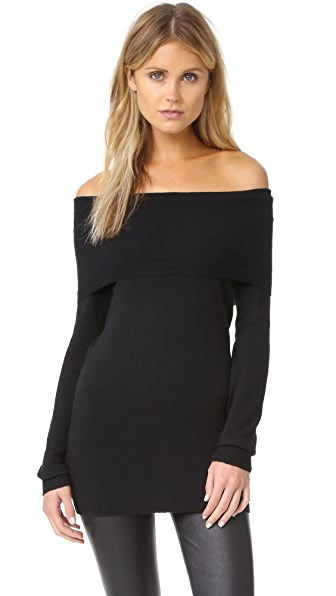 Splendid Off Shoulder Sweater - Black