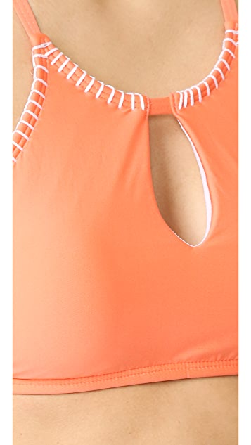 Splendid Stitch High Neck Bikini Top