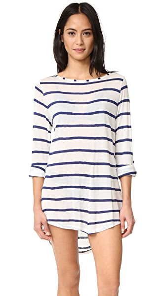 Splendid Striped Tunic - Navy