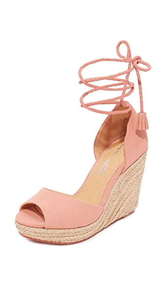 Splendid Dara Espadrille Wedges - Pale Blush