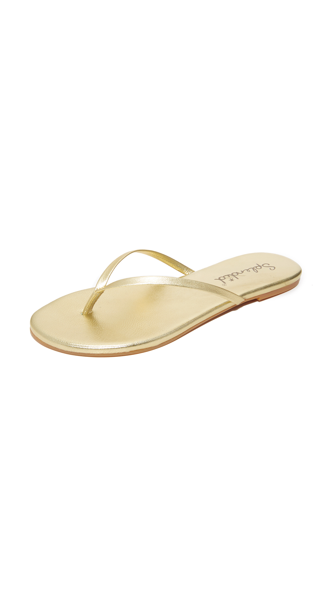 splendid female splendid madrid metallic flip flops gold