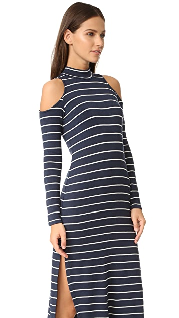 Splendid Dune Stripe Cold Shoulder Dress