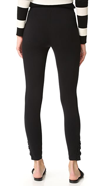 Splendid French Terry Side Lace Up Leggings